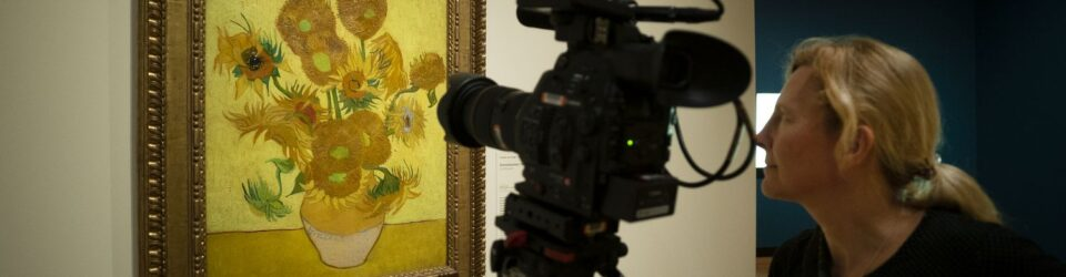 What is behind Van Gogh's Sunflowers?