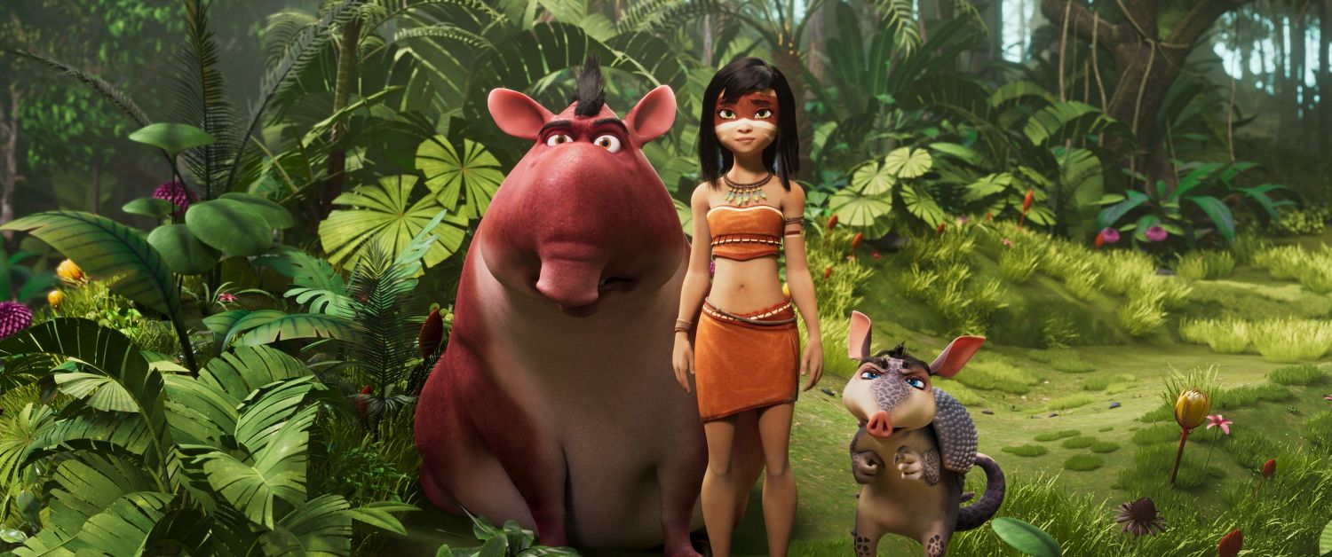 AINBO, Dillo, and Vaca standing in the rainforest_1.1205.1