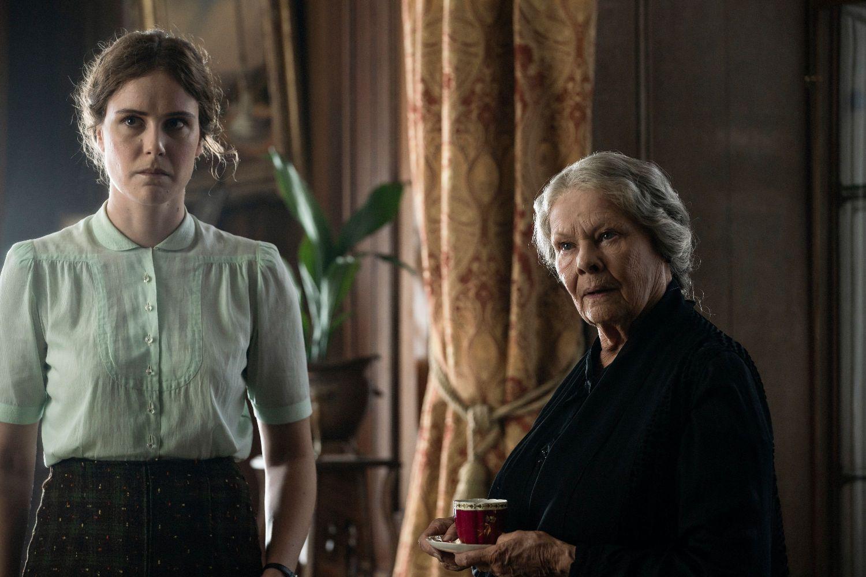 Carla Juri and Judi Dench in SIX MINUTES TO MIDNIGHT (Lionsgate UK)