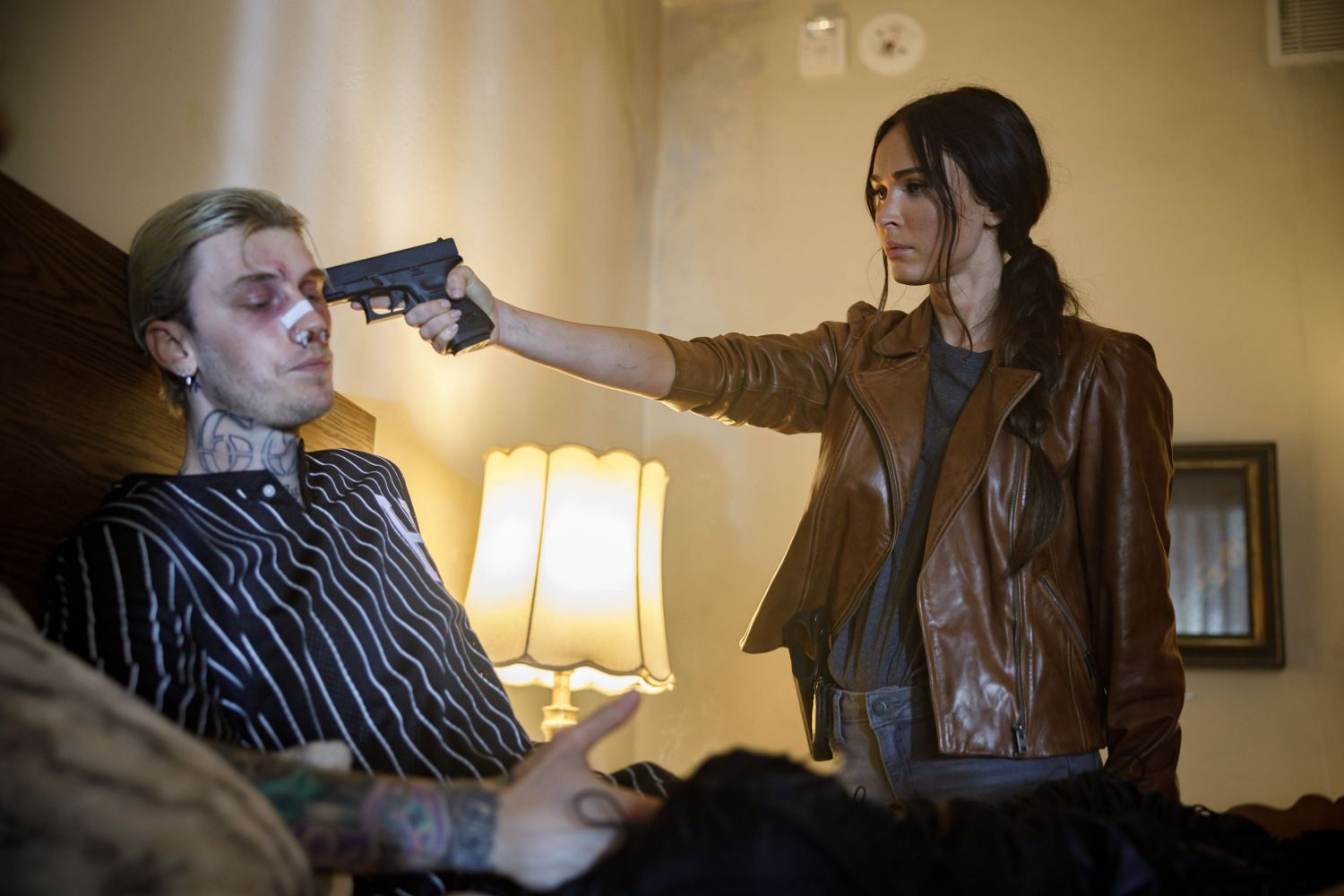 Colson Baker and Megan Fox in MIDNIGHT IN THE SWITCHGRASS (Lionsgate UK)