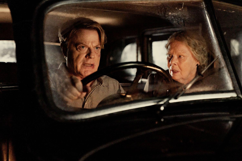 Eddie Izzard and Judi Dench in SIX MINUTES TO MIDNIGHT (Lionsgate UK)
