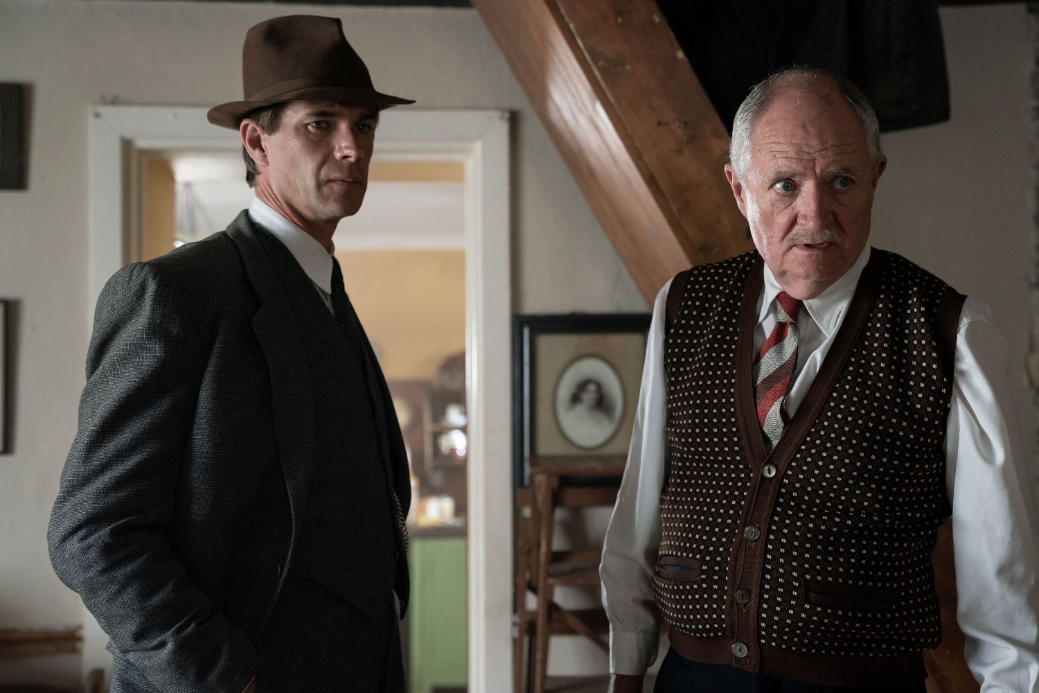 James D'Arcy and Jim Broadbent in SIX MINUTES TO MIDNIGHT (Lionsgate UK)